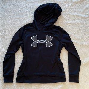 Under Armour Black High Neck Sweatshirt Cold Gear